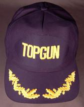 Vtg TOP GUN Hat-Navy Blue-Snapback-Patch-Leaf Bill-Air Force Pilot-Milit... - $21.49
