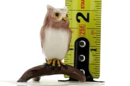 Hagen Renaker Miniature Bird Owl on Branch Ceramic Figurine image 2