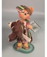 Annalee mouse in night shirt teddy bear mobilitee felt doll Christmas de... - $24.97