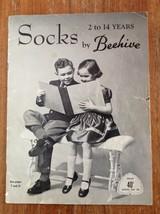 Vintage Socks Knitting Pattern Booklet Beehive 2-14 years Children - $8.63