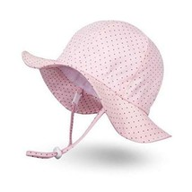 Ami&Li tots Unisex Child Adjustable Wide Brim Sun Large Polkadot Pink - $29.93