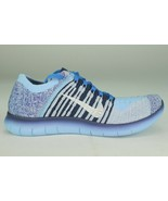 NIKE FREE RN FLYKNIT YOUTH SIZE 5.0 BLUE CAP NEW COMFORTABLE RUNNING RARE - $119.55
