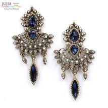 Stud Earrings Tassel Fashion Earring Crystal Vintage Statement Women Jew... - $7.99