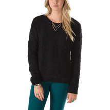 Vans Caylee Pullover Sweater Womens XS Black Knitted Striped Sweatshirt ... - £20.41 GBP