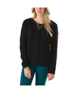 Vans Caylee Pullover Sweater Womens XS Black Knitted Striped Sweatshirt ... - $36.55 CAD
