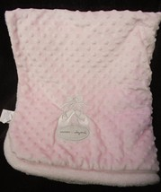 Blankets and Beyond Ballet Shoe Slipper Baby Blanket Pink Minky Dot Bumps - $24.72