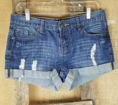 XXI Premium Denim women's 28 short jeans distress blue - $14.80