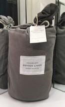 Restoration Hardware Stonewashed Cotton Linen Duvet Full/Queen Graphite ... - $199.99