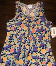 NWT Lularoe Small Dani Purple Orange Blue Tropical Floral Long Column Dress - $47.03