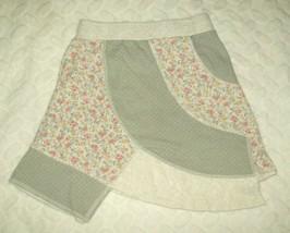 Naartjie Kids Girls Skirt Sz 6 Gray Floral Assymetrical Patchwork Casual... - $19.57