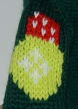 DMM Uncle Bobs XSweat Ugly Knitted Bottle Sweater Green with Bells and Holly image 4