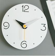 Moro Design Point Line Wall Clock non Ticking Silent Clock (Numeric Sky Blue) image 2