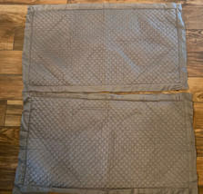 """Charter Club Damask """"Diamond Quilted"""" Taupe Gray Cotton King Pillow Sha Ms Euc - $19.21"""
