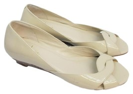 Cole Haan Nike Air Open Toe Beige Patent Leather Shoes 7 B - $35.22