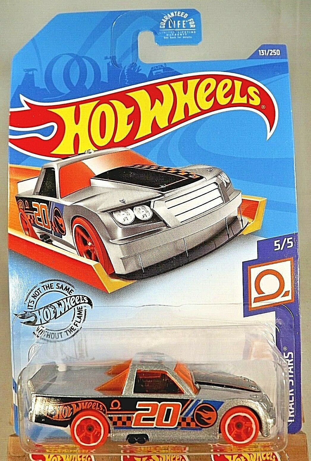 Primary image for 2020 Hot Wheels Treasure Hunt #131 Track Stars 5/5 CIRCLE TRUCKER Gray OrangeWhl