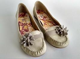 Anne Klein iflex Kenton Beige Womens Size 7.5M Casual Ballet Flats Flora... - $40.19