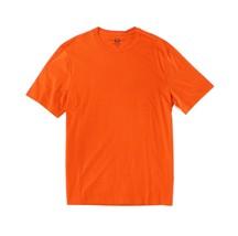 Club Room Men's Crew-Neck T-Shirt, Ponkan Orange, Size L, MSRP $19.5 - $9.89