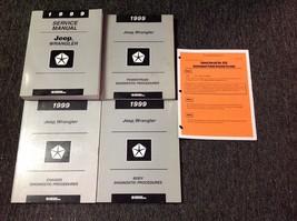 1999 Jeep Wrangler Service Shop Repair Manual Set Factory W Diagnostics + Recall - $188.05