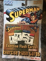 FITDECK Superman Exercise Deck of 50 Playing Cards FOR KIDS Ages 4-16 - $9.95