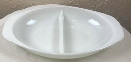 Pyrex Divided Serving Dish 1063 1.5 Qt. Vintage Bakeware (2) - $9.46