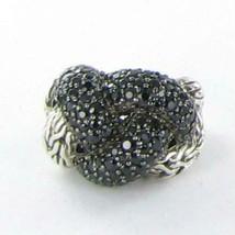 John Hardy Classic Chain Lava Large Braided Black Sapphire Ring Sz 7 New... - $645.05