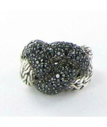 John Hardy Classic Chain Lava Large Braided Black Sapphire Ring Sz 7 New... - $645.05