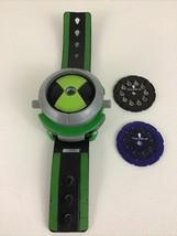 Ben 10 Projector Omnitrix Lights Toy Watch with Disc Cartoon Network Bandai 2008 - $38.27
