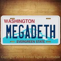 Megadeth Heavy Metal Band Washington State Aluminum Vanity License Plate... - $12.82