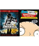 Team America (2004)/Family Guy Stewie Griffin The Untold Story (2005) DVD's - $5.99
