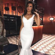 New Arrival Summer Sexy White Mermaid Celebrity Evening Party Club Dress image 3