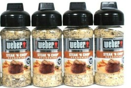 4 Ct Weber 3 Oz Steak N Chop Gluten Free No MSG Bold Flavor Seasoning BB... - $18.99