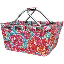 All Flowers in the Garden Print NGIL Canvas Shopping, Market, Picnic Basket - €28,43 EUR