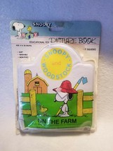 Vintage Snoopy Picture Book Soft Vinyl Childrens Washable Squeeks Peanuts - $25.50