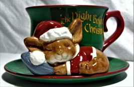 Teleflora The Night Before Christmas Teacup/Mouse Christmas decor - $14.00