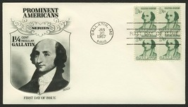 #1279 1 1/4c Gallatin, Fleetwood FDC **ANY 4=FREE SHIPPING** - $1.00