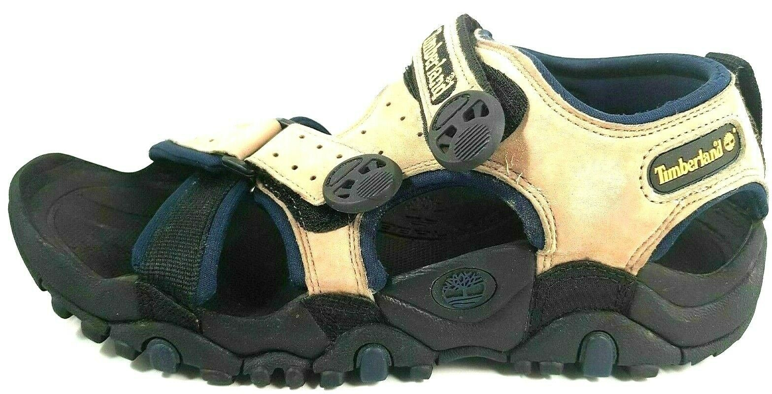 Primary image for TIMBERLAND MENS SANDALS TRAIL DOG GREIGE BEIGE BLUE HIKING OUTDOORS 17163 LEATHE