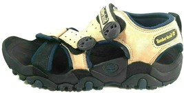 TIMBERLAND MENS SANDALS TRAIL DOG GREIGE BEIGE BLUE HIKING OUTDOORS 1716... - $53.99
