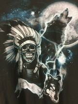 Delta Pro-Weight Black Cotton T-Shirt w/ Native American Graphic - Size XL - $1.60
