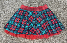 Girls Justice Plaid Christmas Skirt Size 10 - $4.60