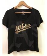 Oakland Athletics Women's Team Fanatic Fashion Top by Majestic Black M M... - $16.95