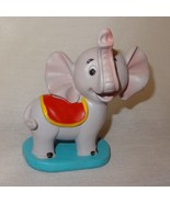 "Circus Elephant Figurine Trunk Up 3"" Gray Plastic Toy - $9.98"