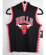 NBA Chicago Bulls jersey sleeveeles hoodie black size M 10-12 - $16.89