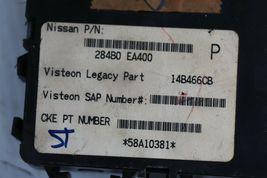 06 Nissan Pathfinder ECU ECM Computer BCM Ignition Switch W/ Key MEC80-461-A1 image 4