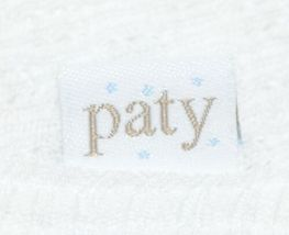 Paty Inc 15H153 Bib And Burp Set Solid White With Red Picot Trim image 6