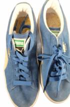 Women Blue Suede Puma Size 7.5 Shoe Sneaker Athletic Casual Low Top image 3