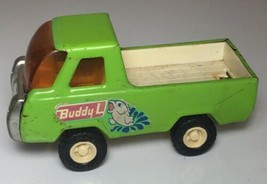 Vintage BUDDY L Metal Truck green Fish logo - $18.69