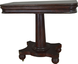 17443 Empire Mahogany Game Table - $325.00