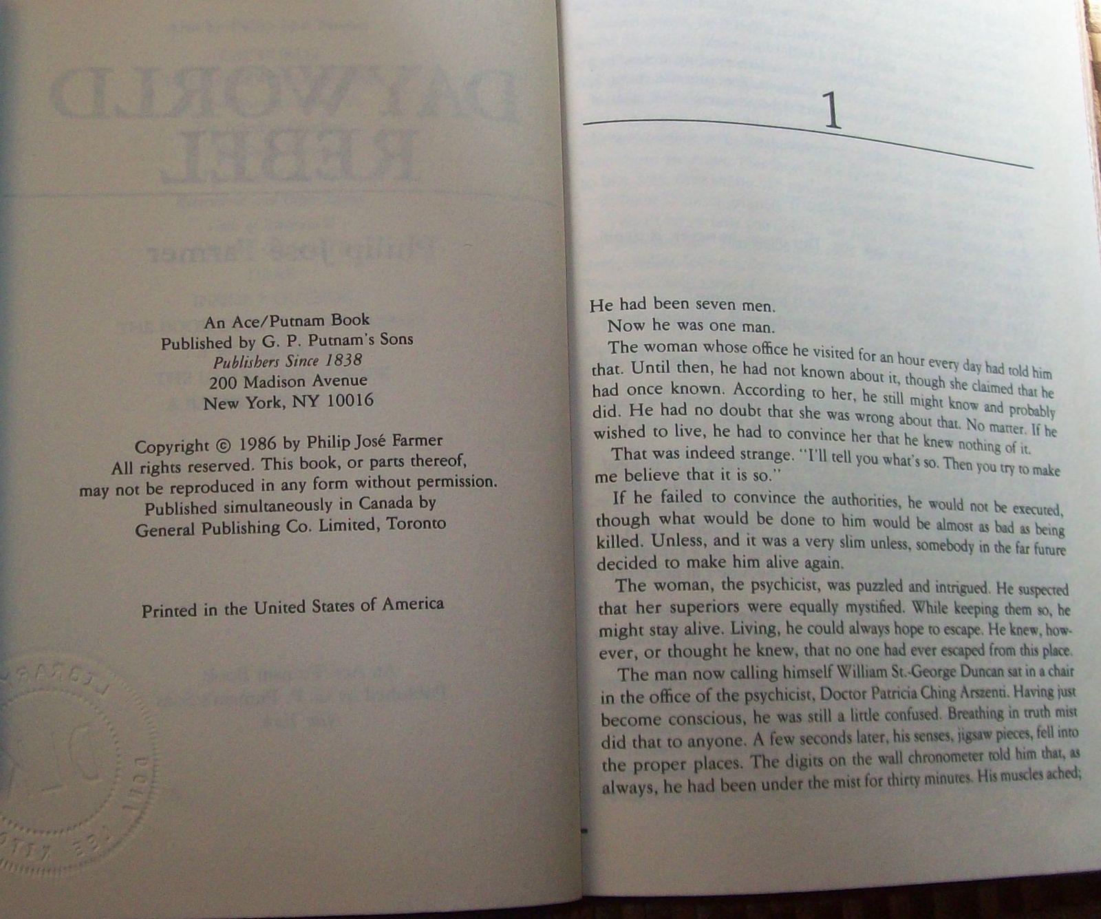 Dayworld & Dayworld Rebel by Philip Jose Farmer HBDJ'S
