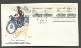 Oct 10 1983 FDC Pope Motorcycle Stamp #1899 Fleetwood - $9.99