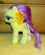 """My Little Pony TY Beanie Baby Plush 7"""" Fluttershy Very Pretty Pony Needs Home - $4.49"""